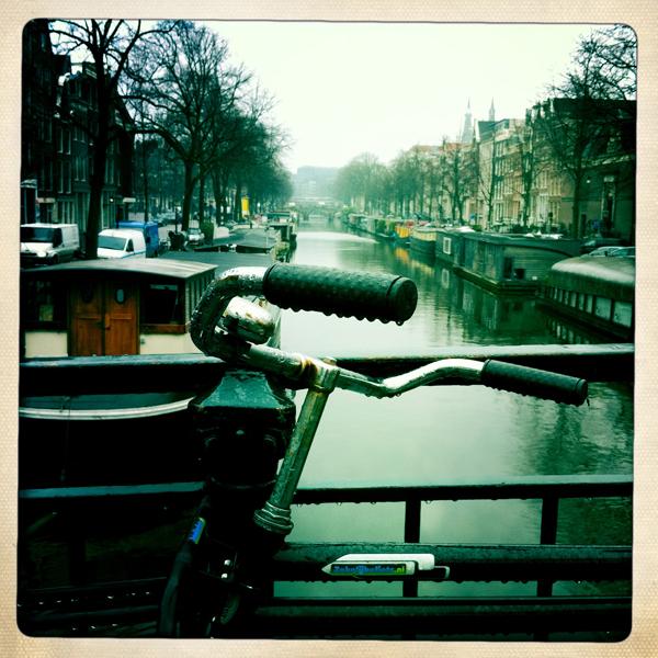 Canal from bridge Amsterdam - Marcel Wanders studio Amsterdam