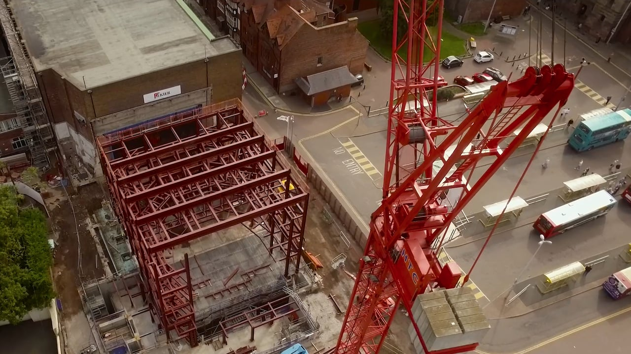 Storyhouse Chester Aerial Filming Chester skyline