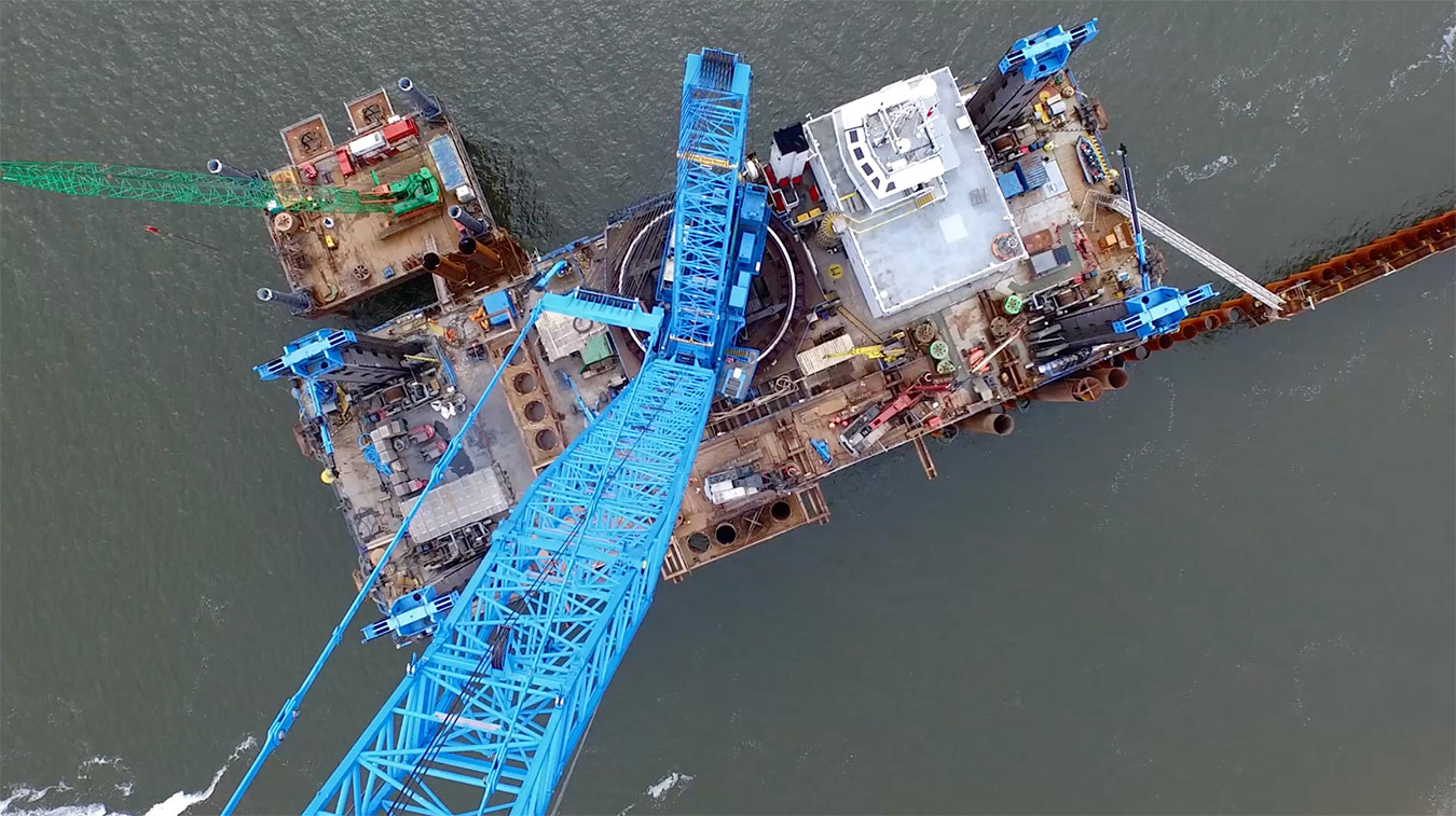 Aerial Drone Construction Filming Experts - Peel Ports - Liverpool Drone Filming