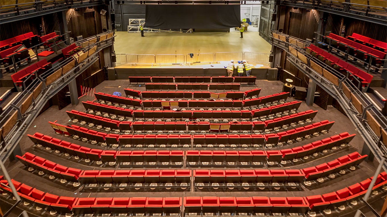 Storyhouse stage transformation time-lapse
